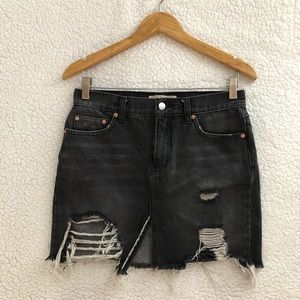 Free People We the Free relax and destroyed skirt